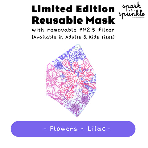 Alcan Care - Reusable Mask (Flowers - Lilac) LIMITED EDITION