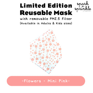 Reusable Mask (Flowers - Mini Pink) LIMITED EDITION