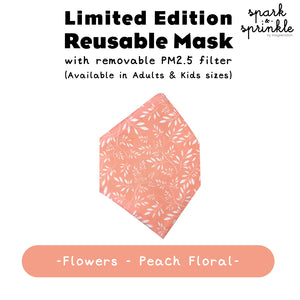 Reusable Mask (Flowers - Peach Floral) LIMITED EDITION
