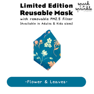 Reusable Mask (Flowers & Leaves) LIMITED EDITION