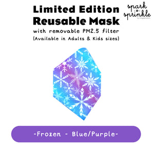 Alcan Care - Reusable Mask (Frozen - Blue/Purple) LIMITED EDITION