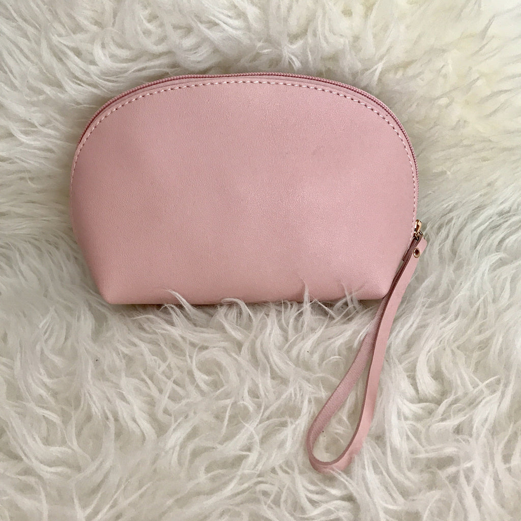 Leather Ellie Pouch (Pink)