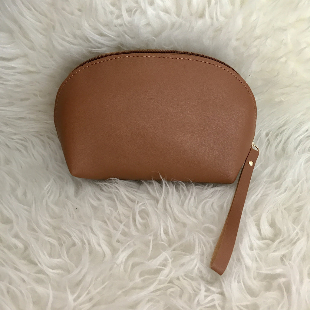 Leather Ellie Pouch (Brown)