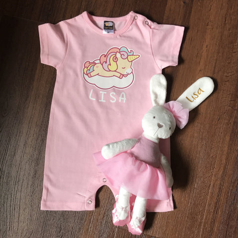 Baby Gift Box 3 : Romper + Soft Toy