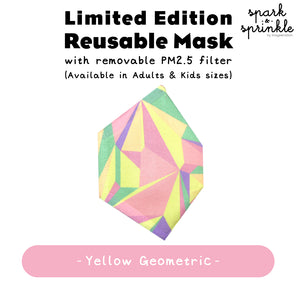 Reusable Mask (Geometric - Yellow) LIMITED EDITION