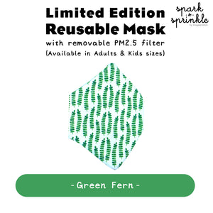 Reusable Mask (Green Fern) LIMITED EDITION