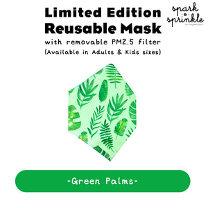Reusable Mask (Green Palms) LIMITED EDITION