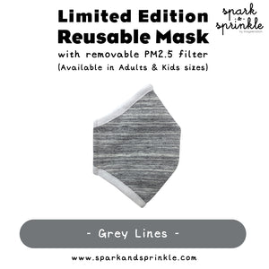 Reusable Mask (Grey Lines)
