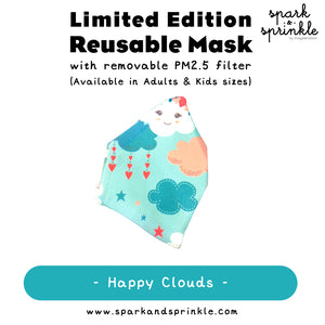 Reusable Mask (Happy Clouds) LIMITED EDITION