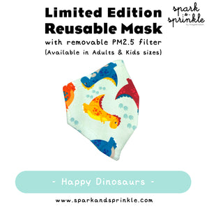 Alcan Care - Reusable Mask (Happy Dinosaurs) LIMITED EDITION