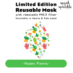 Reusable Mask (Happy Plants) LIMITED EDITION