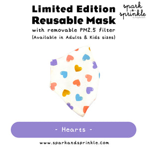 Alcan Care - Reusable Mask (Hearts) LIMITED EDITION