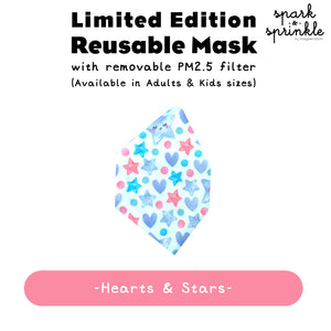 Alcan Care - Reusable Mask (Hearts & Stars) LIMITED EDITION
