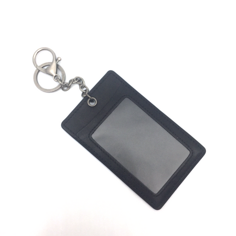 Leather Pass Holder - Black