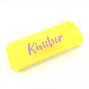 Plastic Pencil Case - Yellow