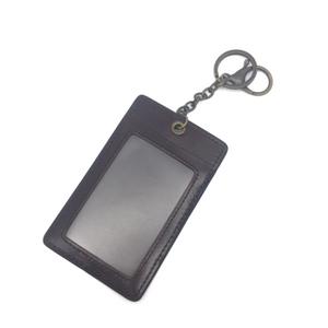 Leather Pass Holder - Dark Brown