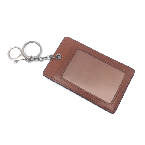 Leather Pass Holder - Light Brown