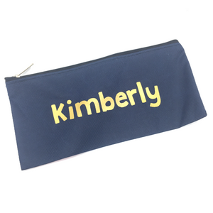 Canvas Pencil Case - Navy Blue