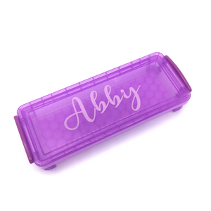Plastic Pencil Case - Purple