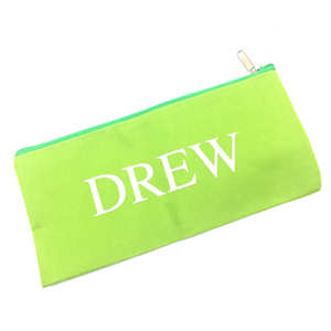 Canvas Pencil Case - Apple Green