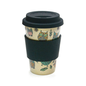 Owl Hourly Cafe Mug (Black)