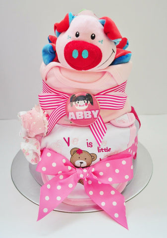 Diaper Cake (2 Tier) B2 : Baby Girl