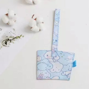 Personalised Canvas Cup Holder - Light Blue Cinnamoroll