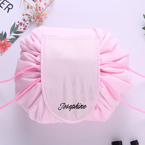 Personalised Drawstring Make Up Pouch (Light Pink)