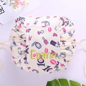 Personalised Drawstring Make Up Pouch (Lipstick & Perfume)