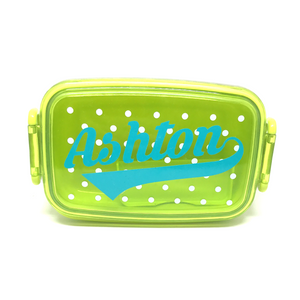 Personalised Kid's Lunchbox - Green