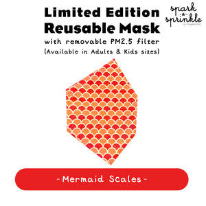 Alcan Care - Reusable Mask (Mermaid Scales) LIMITED EDITION
