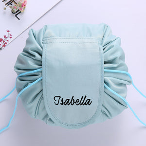 Personalised Drawstring Make Up Pouch (Mint Green)