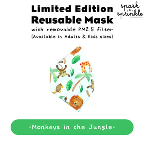 Alcan Care - Reusable Mask (Monkeys in the Jungle) LIMITED EDITION