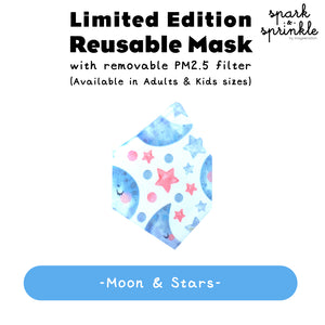 Alcan Care - Reusable Mask (Moon & Stars) LIMITED EDITION