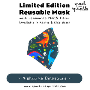 Alcan Care - Reusable Mask (Nighttime Dinosaurs) LIMITED EDITION