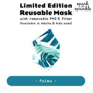 Reusable Mask (Palms) LIMITED EDITION