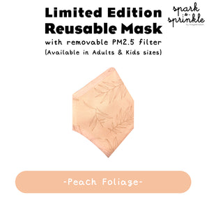 Reusable Mask (Foliage - Peach) LIMITED EDITION