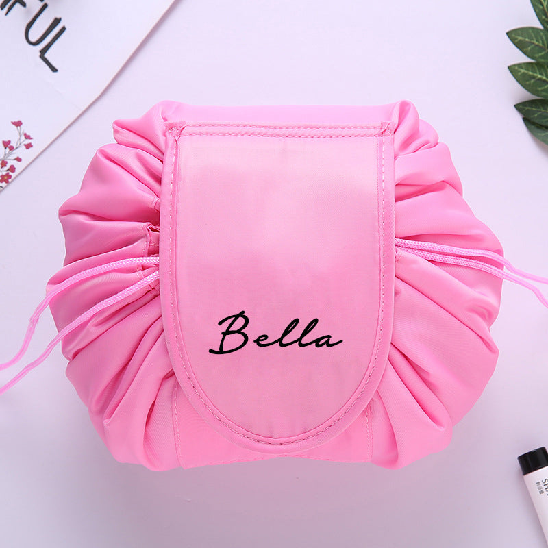 Personalised Drawstring Make Up Pouch (Pink)