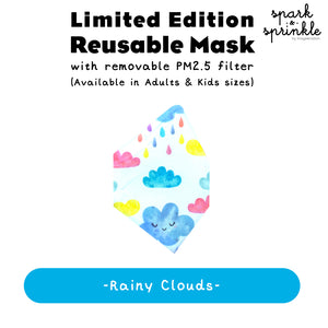 Reusable Mask (Rainy Clouds) LIMITED EDITION