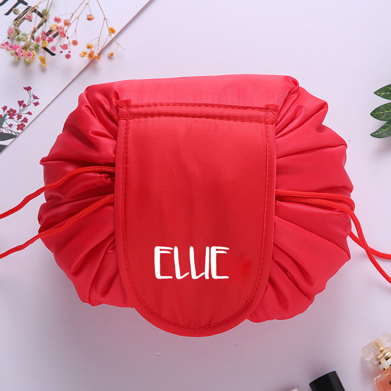 Personalised Drawstring Make Up Pouch (Red)