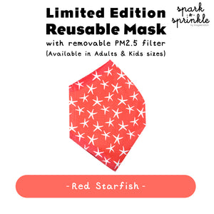 Alcan Care - Reusable Mask (Red Starfish) LIMITED EDITION