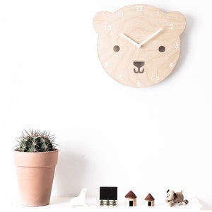Wooden Clock - Bear