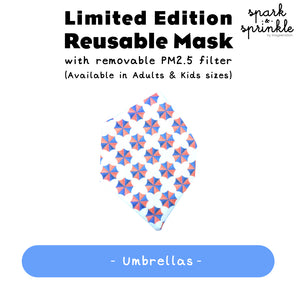 Reusable Mask (Umbrellas) LIMITED EDITION