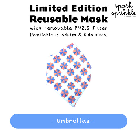 Alcan Care - Reusable Mask (Umbrellas) LIMITED EDITION