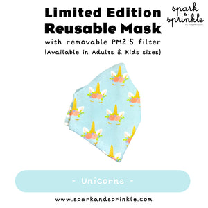 Reusable Mask (Blue Unicorn) LIMITED EDITION