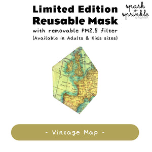 Alcan Care - Reusable Mask (Vintage Map) LIMITED EDITION