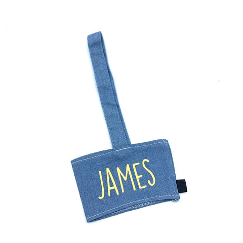 Personalised canvas cup holder - Blue