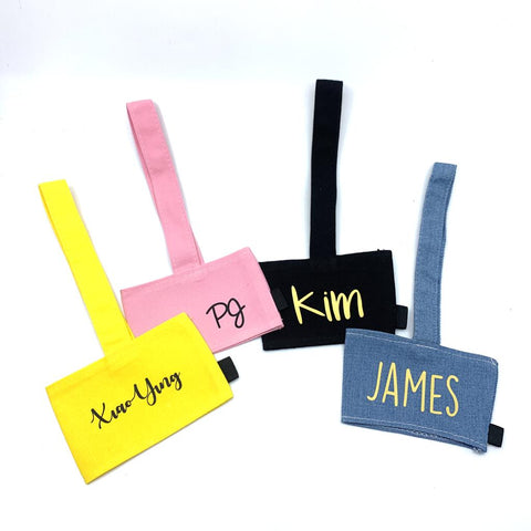 Personalised canvas cup holder - Pink