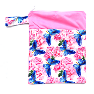 Large Wetbag (Strip) - Floral butterflies