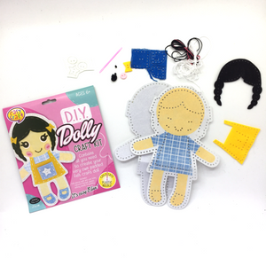 DIY Dolly Craft Kit - Brown Hair
